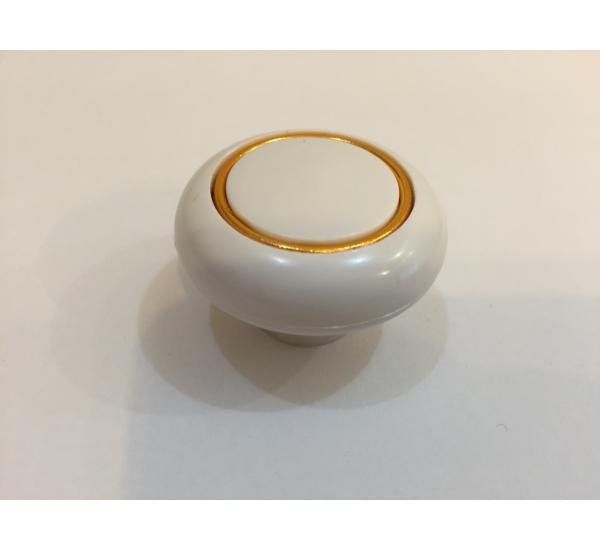 Ручка мебельная кнопка с кольцом WW