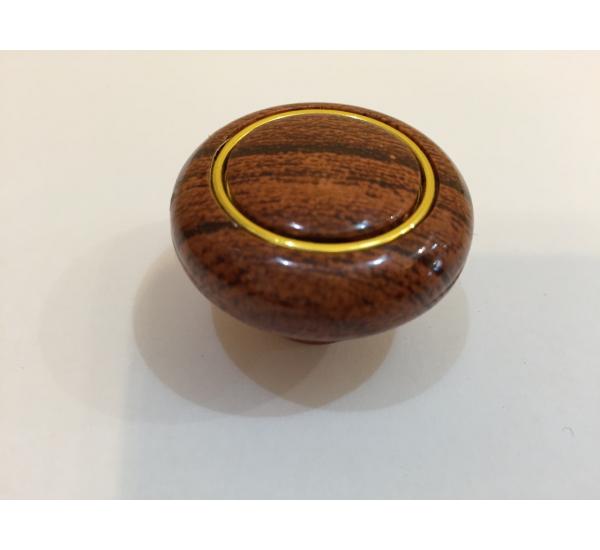 Ручка мебельная кнопка с кольцом 604