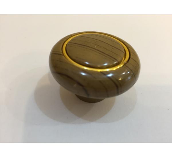 Ручка мебельная кнопка с кольцом 611