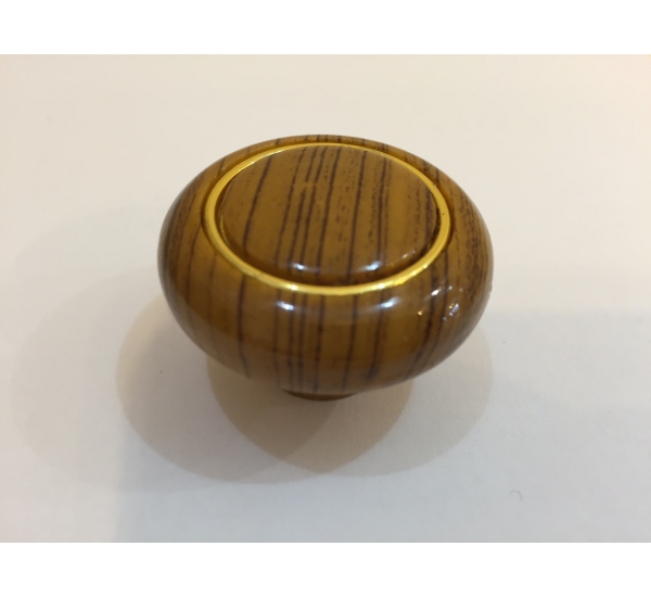 Ручка мебельная кнопка с кольцом 614