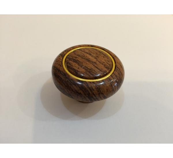 Ручка мебельная кнопка с кольцом 607