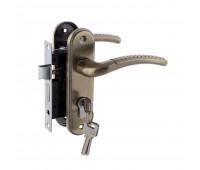 Комплект ручек на планке с корпусом и цилиндром FZB - ET-71106 AB (Античная бронза) купить оптом