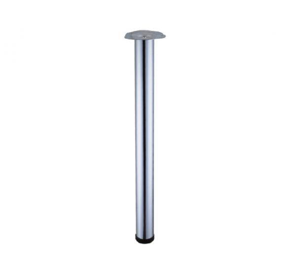 Опора 710 мм хром для стола регулируемая