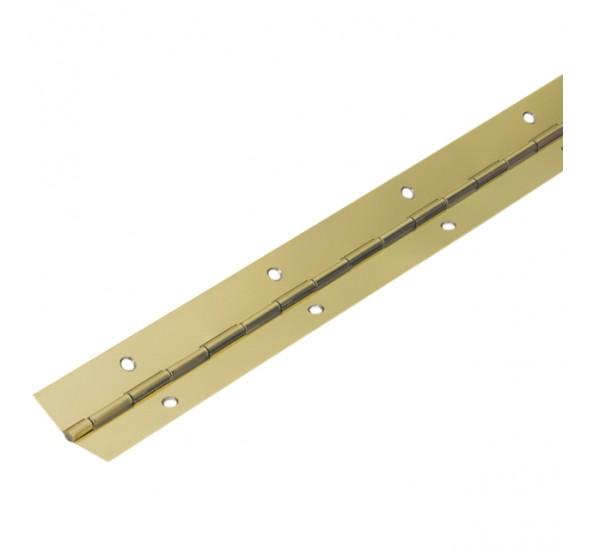 Петля рояльная сталь l: 1750 мм, полка 14мм,  золото (Турция)