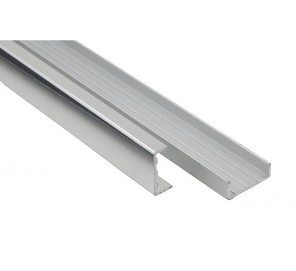 Алюминиевый профиль кромочный С-образный С-16/3000